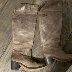 Frye jane tall cuff boot. Size 8 color gray.